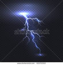 Lightning Flash Bolt Or Thunderbolt Isolated On Transparent Background Vector Electric Light Thunder Spark