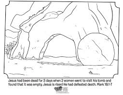 Kids Coloring Page From Whats In The Bible Showing Empty Tomb Mark 16