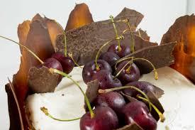 zitronen kirsch torte mit schokoladendeko törtchen made