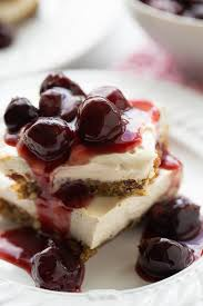 No Bake Vegan Cherry Cheesecake Bars So delicious you d never guess they