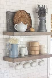 Kitchen Shelf Styling Modern Farmhouse Spring Home Tour From Jenna Sue Design Blog