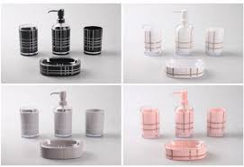 accessories black and white bathroom accessories sets pink pink
