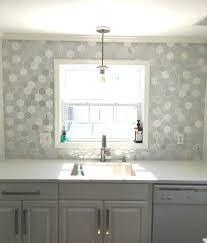 octagon backsplash tile kitchen decorating slate hexagon tile