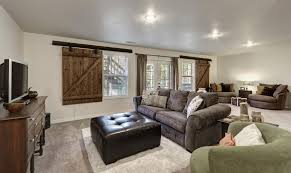 5 Tags Rustic Living Room With Filament Design Callum 75 In White Recessed Can Light Barn JeffAllred6 Home Ideas