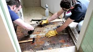 Covering Asbestos Floor Tiles With Ceramic Tile by Asbestos Kitchen Floor Removal Demo 4 Youtube