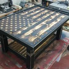 Blown Away By This Rustic Flag Coffee Table Click Through To See More Pictures Of