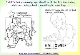 Colouring Pages For The Lords Prayer Free Coloring Children