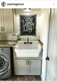 Burlap Utility Sink Skirt by Best 25 Laundry Tubs Ideas On Pinterest Utility Sink Skirt