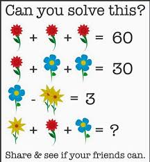 Here Is The Answer To Flower Math Problem That Driving