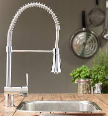 Kテシche Wasserhahn Mit Brause Niederdruck Gastro Spiralfeder Küchenarmatur Mit Brause Chromoptik