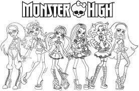 Free Cartoon Monster High For Kids Coloring Pages