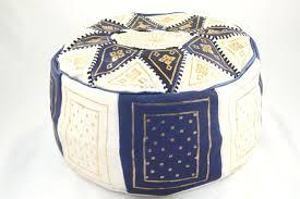 pouf marocain en cuir pouf marocain marron fonçé c136