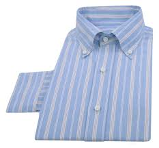 luxire shirt constructed in oxford pink white stripes on blue