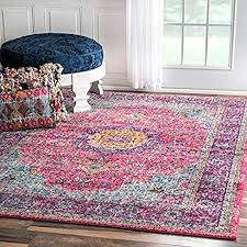 Amazon nuLOOM Traditional Persian Vintage Fancy Pink Area Rug