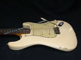 GC Custom Shop Musterbuilder 1963 Jimi Hendrixs Owned Heavy Aged L14985 Electric Guitar White
