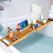 Bamboo Bath Caddy Nz by Amazon Com Royal Craft Wood Luxury Bathtub Caddy Tray Bonus Free