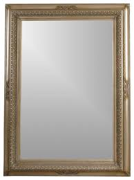 Beveled Leaning Floor Mirror In Silver Leaf Colored Frame Traditional Mirrors