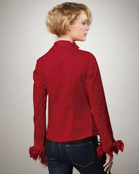 go u003e by go silk puckered ruffle blouse petite in red lyst