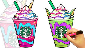 How To Draw A Starbucks Unicorn Frappuccino And Dragon