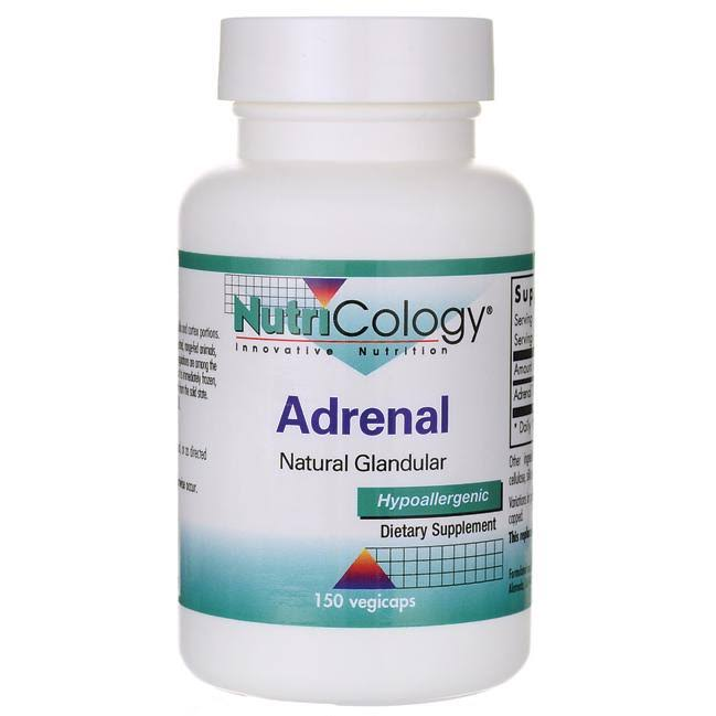 Nutricology Adrenal Natural Glandular - 150 ct