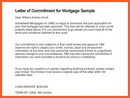 8 9 mitment letter