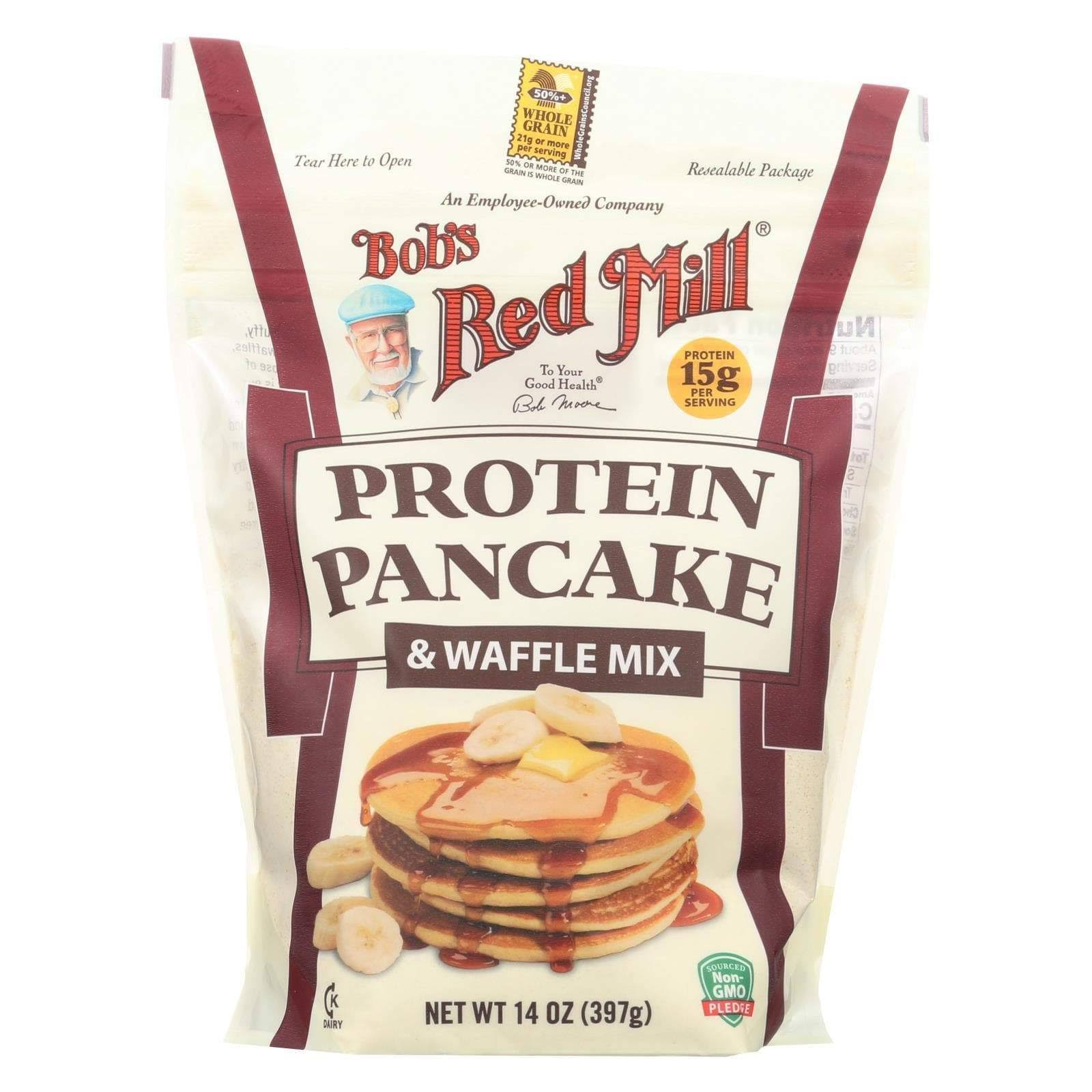 Bobs Red Mill Pancake & Waffle Mix, Protein - 14 oz