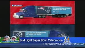 100 Bud Light Truck Promises Free Beer To Winning Super Bowl City CBS Boston