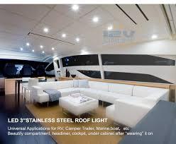 10pcs 12v 304ss led cabinet closet puck light rv boat