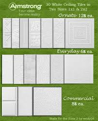mod the sims 32 armstrong ceiling floor tiles
