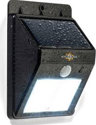 Solar Powered Outdoor LED Light Contemporary Outdoor Wall