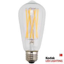 kodak 90w equivalent warm white vintage filament st64 dimmable led