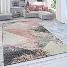 paco home wohnzimmer teppich moderner kurzflor in pastell
