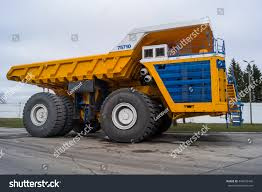 World Largest Huge Truck Bel AZ Yellow Stock Photo (Edit Now ...