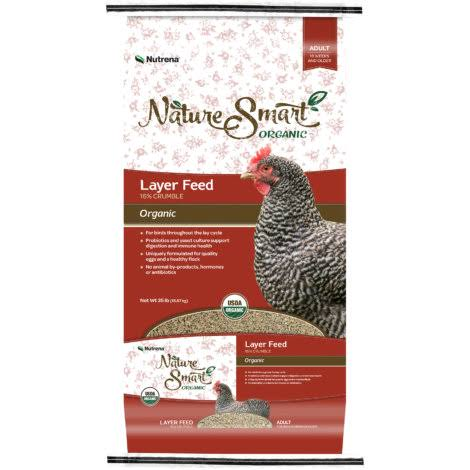 Nutrena Naturesmart Organic Layer 16% Crumbles Poultry Feed - 35lbs