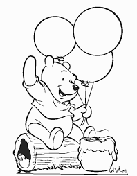 Printable Winnie The Pooh Birthday Coloring Pages For Preschoolers 234x300
