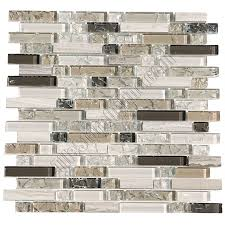glass tile and marble linear mosaic 5 8 x linear strips sticks