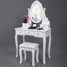 coiffeuse de chambre pour femme miroir bois complete blanche coucher inclus occasion cher chambre