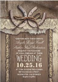 Rustic Horseshoes And Burlap Wedding Invitation