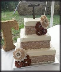 Strikingly Ideas Lace And Burlap Wedding Cake Brilliant Decoration TwentyOne Cakes By Annie