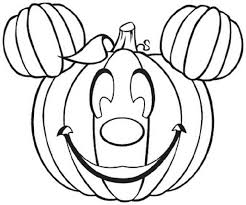 Halloween Mickey Like Pumnkin Coloring Pages