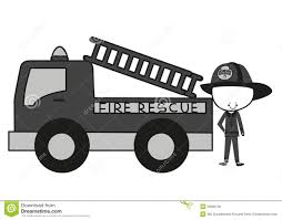 100 Fire Truck Song Doodle Fighters Rescue Stock Vector Illustration Of
