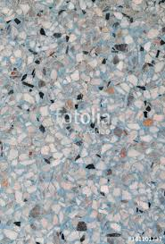 Stone Wall TextureTerrazzo Marble Surface Floor Pattern And Blue Color For Background