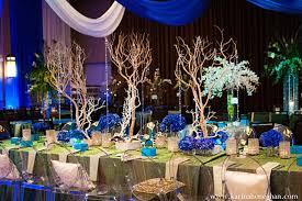 Indian Wedding Reception Venue Table Decor