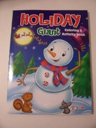 Get Quotations Holiday Giant Coloring And Activity Book Christmas Edition Snowman Animals At Night