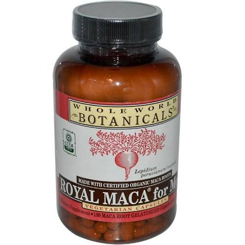 Whole World Botanicals Royal Maca for Men - 180 Vegetarian Capsules