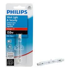 philips 150 watt halogen t3 120 volt work and security light bulb
