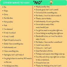 Smart And Polite Ways To Say NO In English English