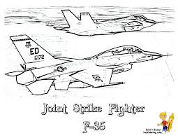 F 35 Aircraft Coloring For Kids At YesColoring