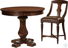 Havana Antique Brown Pub Table From Hekman Furniture | Coleman Furniture