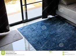 Download Blue Carpet Softness Texture Decoration Floor Interior Stock Image